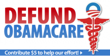 Sign Tea Party petition to defund Obamacare now!