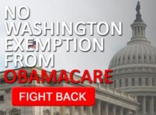No Washington Exemption from Obamacare!